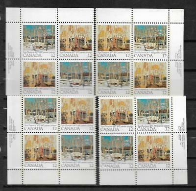 pk47647:Stamps-Canada #734a Tom Thomson 12 ct Set of Plate Blocks-MNH