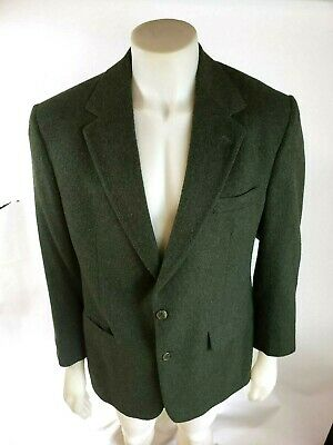 VNTG Brooks Brothers Mens Green 100% Camel Hair 2BTN Blazer Jacket Coat 41R