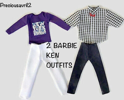 New Barbie Doll clothes Ken Doll outfit clothing t/shirt shirt pants 2 outfits