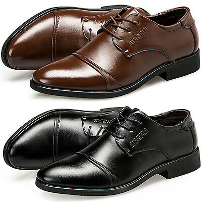 Fashion Mens Lace Up Formal Wedding Party Leather Oxford Dress Shoes Brogue Size