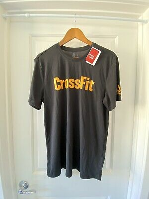 Reebok Crossfit Speedwick Graphic T-Shirt Black Mens Large