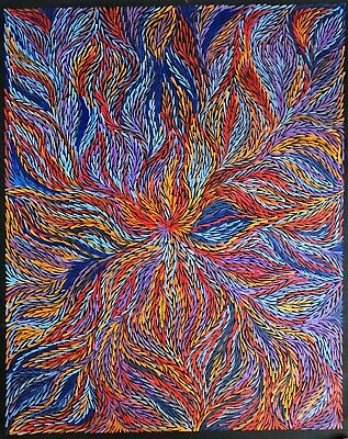 JEANNIE PETYARRE, Authentic Aboriginal Art. Size 120 x 100cm  beautiful piece