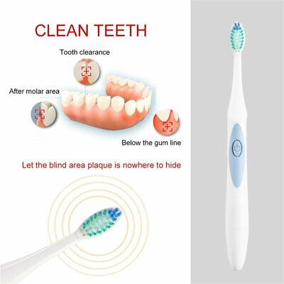 Electric Ultrasonic Toothbrush Waterproof Battery Oral Cleaning Prod A1✿