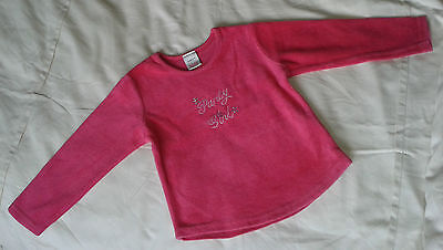 Girls Next Pink T Shirt Age 2 Years 'Party Girl' Immaculate Soft Velour No Marks