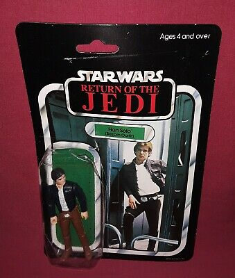 1983 ROTJ Star Wars HAN SOLO BESPIN OUTFIT MOC Return of the Jedi Palitoy 65 BK