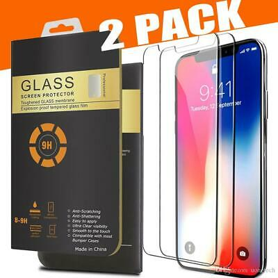 Case & Tempered Glass Screen Protector for  New iPhone 11 PRO MAX X XS  XR XSMAX