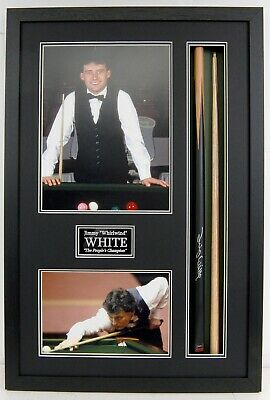Jimmy WHITE SIGNED & Framed Snooker Cue Display The Peoples Champion AFTAL COA