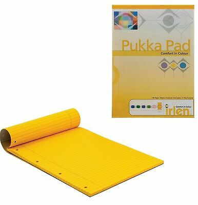 1//6 Pukka Coloured Lined Ruled Dyslexia Irlen Notepad Pads Margin 100 Pages Pad