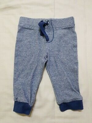 Boys Blue Stripey Trousers Joggers Age 0-3 Months