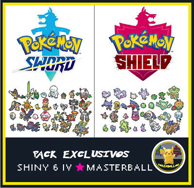 Pokémon Exclusivos Espada/ Escudo Shiny Competitivos regalo Ditto shiny 6 ivs