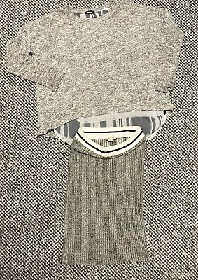 Girls Grey River Island Skirt and jumper Age 9/10 years/ excellent (59)