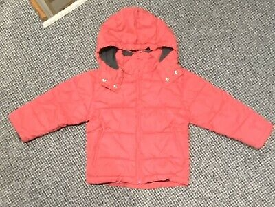 Girls H&M Winter Coat  Age 5-6 years old pink padded bubble jacket hood 39