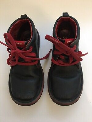 Camper Girls Real Leather Boots With Red Shoe Laces Size EU 32 Uk 12