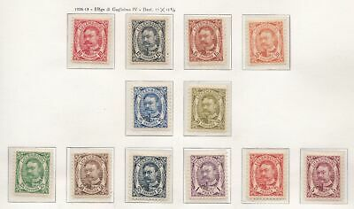 1906-08 LUSSEMBURGO/LUXEMBOURG, n° 74/85 set of 12 MNH/**