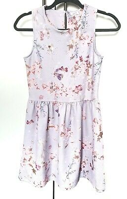 Girls Next Lilac Purple Floral Party Dress Age 12 Years