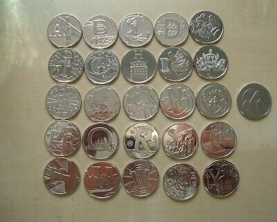 2018 FULL SET Alphabet Ten Pence 10p UNCIRCULATED A to Z coins