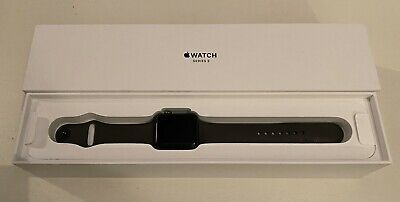 Apple Watch Series 3 42mm Space Grey Aluminium Case with Grey Sport Band (GPS) -