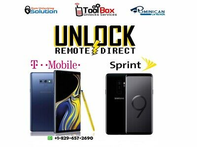 INSTANT! Samsung Galaxy S9/NOTE 9 TMOBILE METRO PCS SPRINT Remote Unlock Service