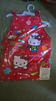 Hello Kitty Apron with Cuffs Sleeves and Front Pocket Waterproof - 3-Piece Set