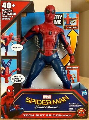 Marvel Spiderman Homecoming Tech Suit Spider-man with Lights, Phrases, & Sounds