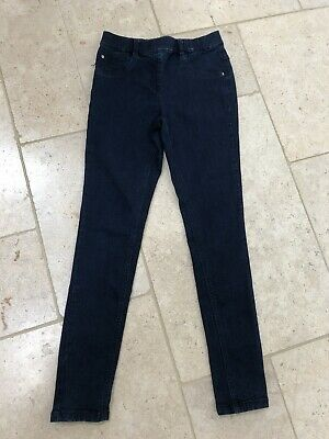 Next Girls Skinny Jeans 11 Year Old Stretchy Blue Worn Once