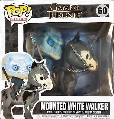 Funko POP! rides Game of thrones Mounted White Walker on horse Vinyl Figure #60