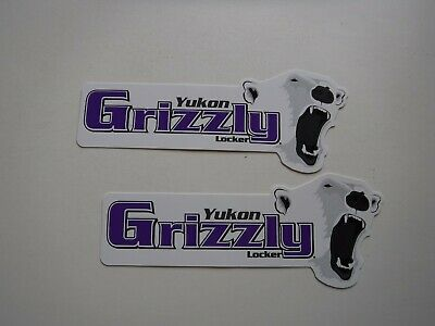 "ORIGINAL   RACING   DECALS  ""  Yukon  Grizzly  Locker  ""  6.25 "" x 2.50 """