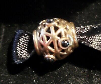 Authentic Pandora 14k Yellow Gold Constellation Onyx 750508OX RETIRED! W/BOX!!
