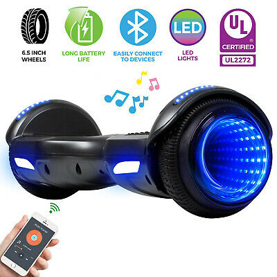 "6.5"" Bluetooth Electric Hoverboard Balancing Tunnel Lights Scooter no Bag Blue"