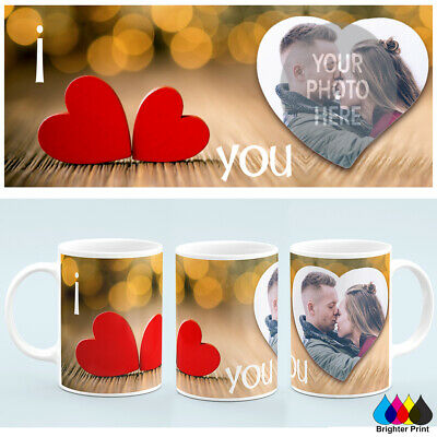 Personalised Valentines Day Photo Mug Cup Custom Image +Free Gift box