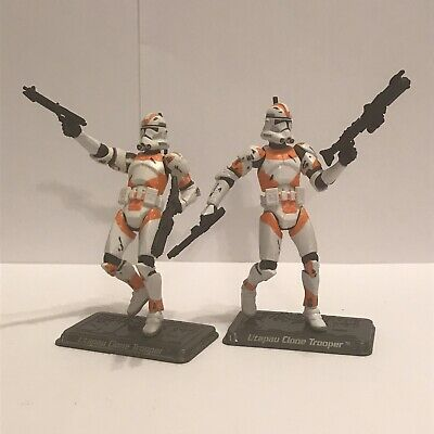 Star Wars Saga Lot of 2 Utapau Clone Trooper Action Figures  by Hasbro (2006)