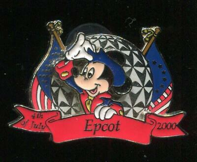 WDW MICKEY EPCOT 4TH OF JULY 2000 OLD TIME COLONIAL PATRIOTIC DISNEY LE PIN 3D