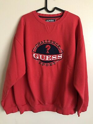 Vintage Guess Sport Crewneck Sweatshirt Large USA 90's