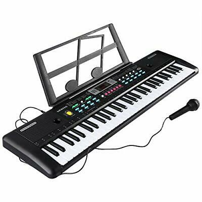 Electronic Keyboard 61 Key Portable Music Piano Keyboard With Microphone And Sta