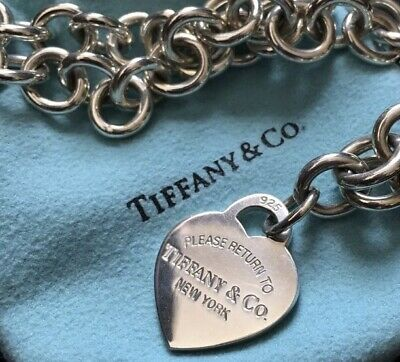 Return to Tiffany & Co. Sterling Silver Heart Choker Necklace
