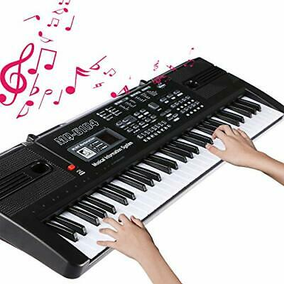Electronic Keyboard 61 Key Portable Music Piano Keyboard With Microphone Interac