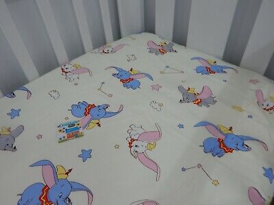Dumbo Cot Sheet Fitted Pure Cotton Fits to 79x130cm mattress