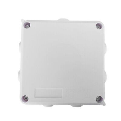 White ABS IP65 Waterproof Enclosure Square Junction Box 100x100x70mm M2C9