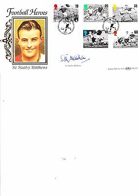 Benham Blcs117 Fdc Football Heroes Signed Sir Stanley Mathews