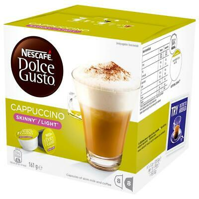 NESCAFE Dolce Gusto Skinny Cappuccino 8 Coffee and 8 Milk Pods Capsules
