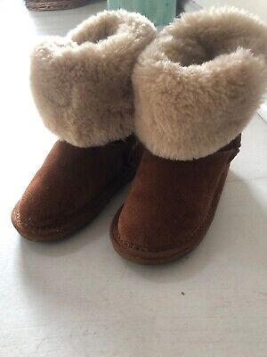 Tu Childrens Tan Faux Fur Boots Size 8 Hardly Worn
