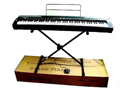 SDP-4 Stage Piano by Gear4music + Stand, Sustain Pedal + Headphones - GUARANTEED