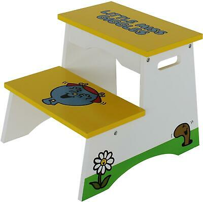 Kiddi Style LITTLE MISS STEP STOOL Little Miss Giggles Wooden Furniture BNIP