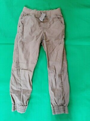 Boys Casual Trousers Utility joggers Beige Brown Colour 8-9 Years Excellent cond