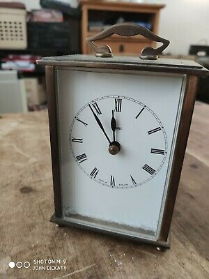 Vintage Metamec Carriage Clock Brass Transistor Battery circa 1970s for project?