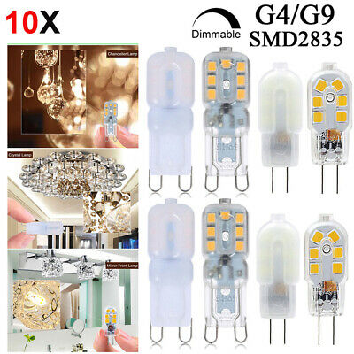 10X LED G4 G9 Douille Dimmable Ampoule SMD2835 Lampe Remplacement Lampe Halogène
