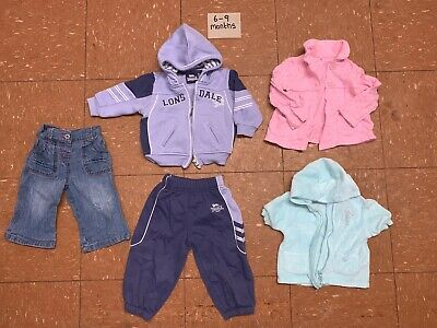Baby Girls Clothes Bundle Age 6-9 Months Tops Jacket Tracksuit Jeans