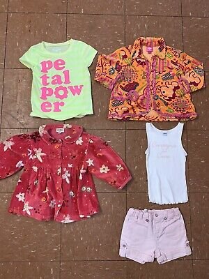 Girls Clothes Bundle Age 3-4 Years Jackets Tops T-shirts Hippie