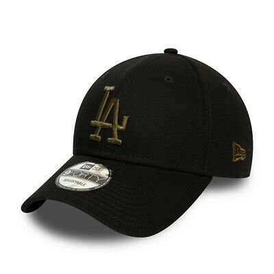 New Era League Essential 9Forty Los Angeles Dodgers Strapback Baseball Cap-Black