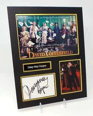 Daisy May COOPER Signed Mounted Photo Display AFTAL COA David Copperfield
